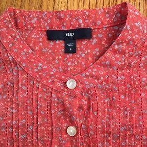 GAP gauze top with mandarin collar
